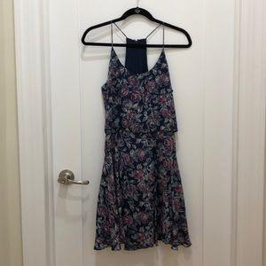 Joie Floral Silk Navy Dress